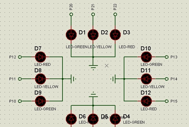 51单片机简单交通灯控制程序